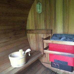 gentle restorative yoga retreat sauna