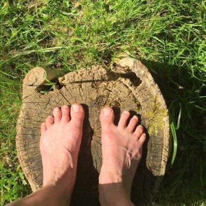 gentle yoga retreat feet