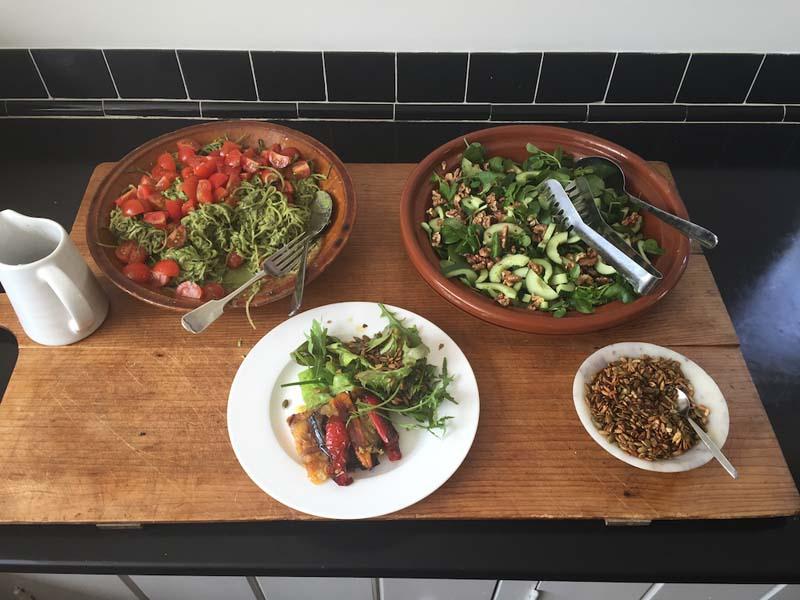yoga retreat yummy food